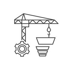 Internet marketing concept sale funnel vector