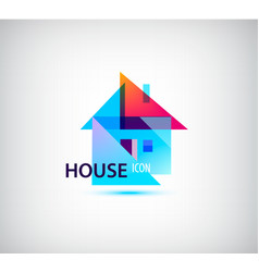 Faceted geometric house abstract building vector