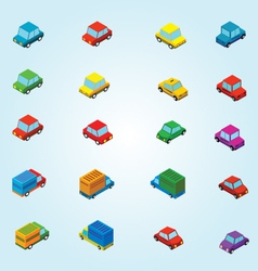 Isometric cars vector