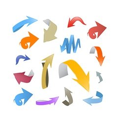 Colorful abstract arrows set vector