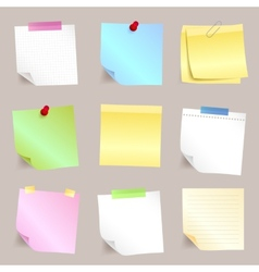 Different paper note set vector image