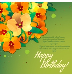 Floral decorative card with orchid vector