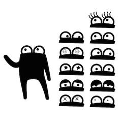 Cartoon Character various eyes vector image