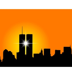 Silhouette of skyscrapers vector