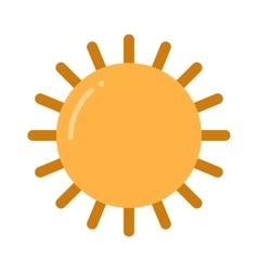 Sun icon isolated on white background vector