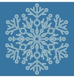 Pretty round snowflake vector
