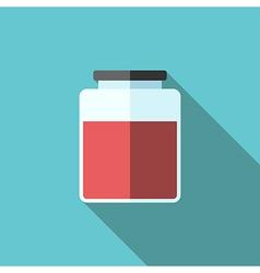 Jar of jam icon vector