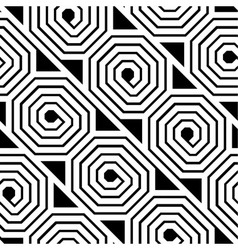 Abstract Black and White Octagon Spiral Seamless vector image vector image