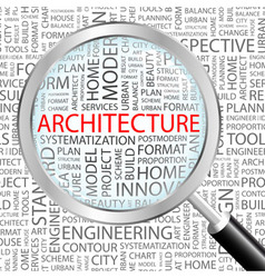 ARCHITECTURE vector image vector image