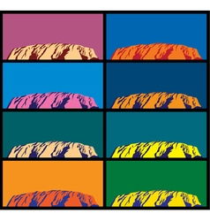 Ayers rock vector