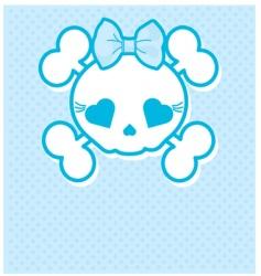 blue skull vector image