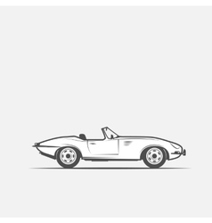 car convertible in black and white vector image