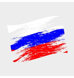 Color russia national flag grunge style eps10 vector