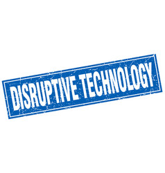Disruptive technology square stamp vector