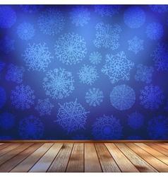 Frozen interior christmas background EPS 10 vector image