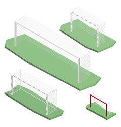 Gate for playing soccer in isometric vector