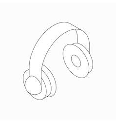 Headphone icon isometric 3d style vector image vector image