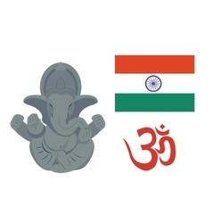 India elephant travel icons vector