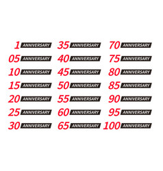 Isolated red and black color numbers with word vector