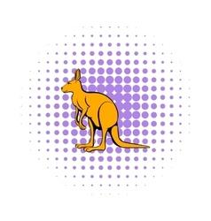 Kangaroo icon in comics style vector