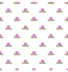 Lotus flower pattern cartoon style vector image vector image