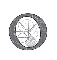o vector image vector image
