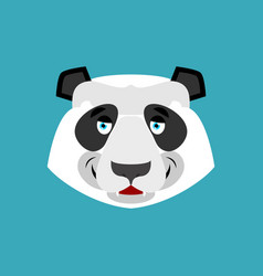 Panda happy emoji chinese bear merry emotion vector