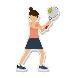 person figure athlete tennis sport icon vector image
