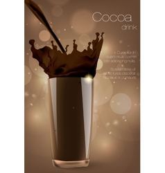 Pouring cocoa chocolate and milk vector