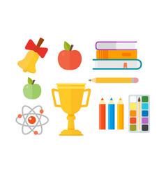 school supplies stationery equipment vector image