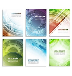 Set of abstract business flyer template folder vector image