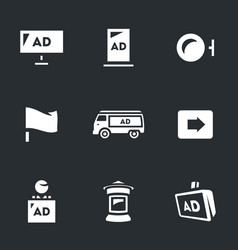 set of advertising icons carriers and vector image