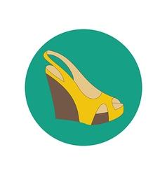 Shoes on platform vector