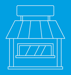 Shop icon outline style vector