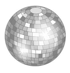 Silver mirror ball or discoball for party vector
