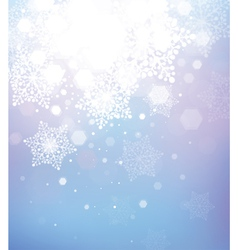 Snowflake winter background vector