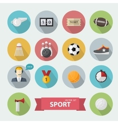 Sports icon flat vector image vector image