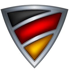 steel shield with flag germany vector image