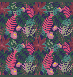 Tropical seamless pattern background vector