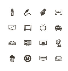 Tv - flat icons vector