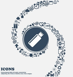 Usb sign icon flash drive stick symbol in the vector