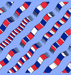 Winter background with france flag scarves vector