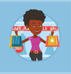woman shopping on sale vector image vector image