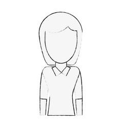 Young woman avatar cartoon vector
