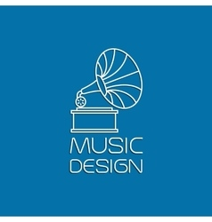 Music design with gramophone vector