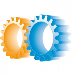 logo gears vector image