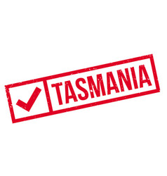 Tasmania rubber stamp vector