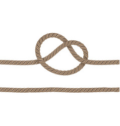 Rope is knotted vector