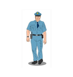 Policeman police officer walking vector