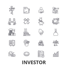 investor investment business stock market vector image
